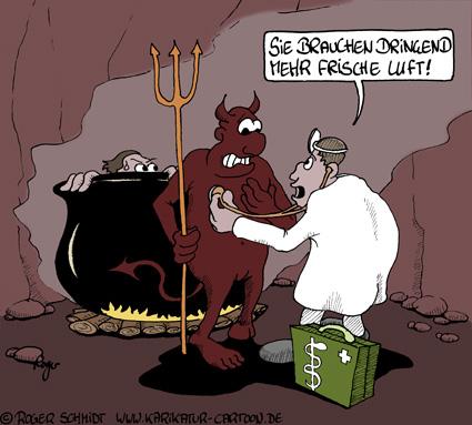 Karikatur, Cartoon: Symptome der Bronchitis, © Roger Schmidt