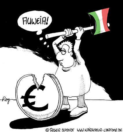Karikatur, Cartoon: Brot und Spiele, © Roger Schmidt
