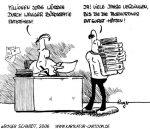 Karikatur, Cartoon: Bürokratie, © Roger Schmidt