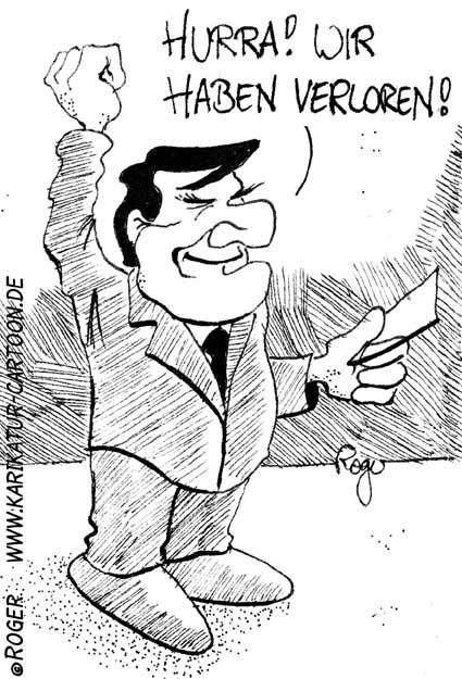 Karikatur, Cartoon: Bundeskanzler, © Roger Schmidt