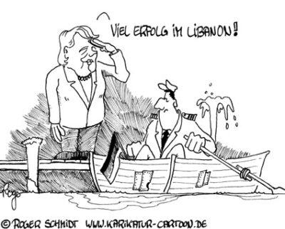 Karikatur, Cartoon: Bundesmarine, © Roger Schmidt