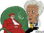 Karikatur, Cartoon: Bundesverfassungsgericht watscht EZB ab © Roger Schmidt