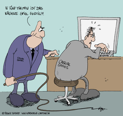 Karikatur, Cartoon: Casual Games, © Roger Schmidt