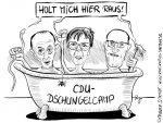 Karikatur, Cartoon: Das CDU-Dschungelcamp, © Roger Schmidt