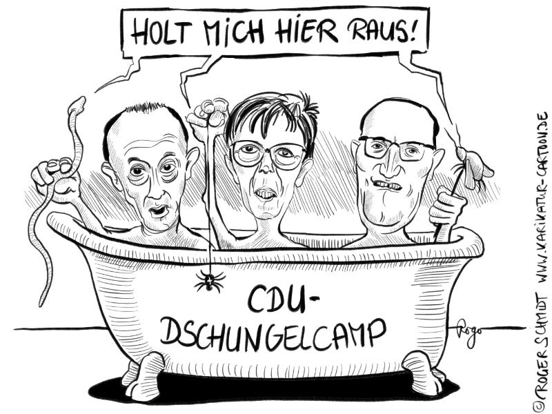 Das Cdu Dschungelcamp Karikaturen Und Cartoons