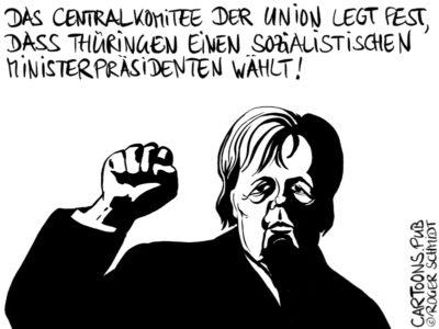 Karikatur, Cartoon: Centralkomitee Der Union © Roger Schmidt