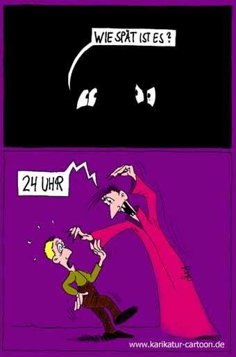 Karikatur, Cartoon: Vampire, © Roger Schmidt