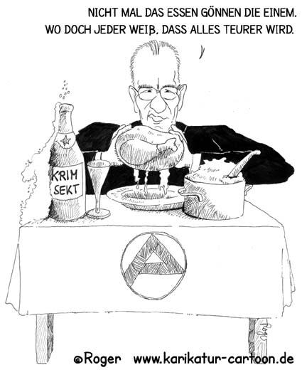 Karikatur, Cartoon: Arbeitsamt, Florian Gerster, © Roger Schmidt