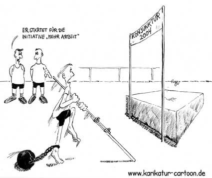 Karikatur, Cartoon: Konjunktur, © Roger Schmidt