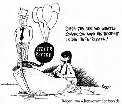 Karikatur, Cartoon: Steuerreform, © Roger Schmidt
