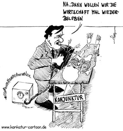 Karikatur, Cartoon: Neuverschuldung, © Roger Schmidt