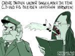 Karikatur, Cartoon: coronafreies Singen © Roger Schmidt
