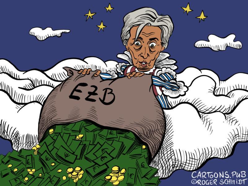Karikatur, Cartoon: Christine Lagarde neue EZB-Chefin © Roger Schmidt