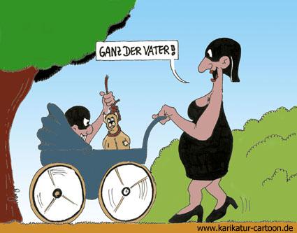 Karikatur, Cartoon: Kinderwagen, © Roger Schmidt