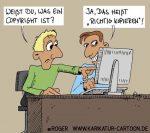 Karikatur, Cartoon: Copyright, Urheberrecht, © Roger Schmidt