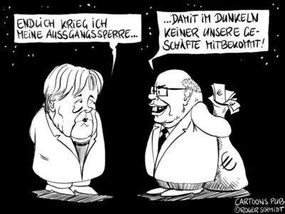 Karikatur, Cartoon: Corona Corruptis © Roger Schmidt