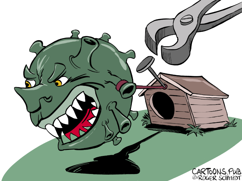 Karikatur, Cartoon: Corona-Lockdown lockern © Roger Schmidt