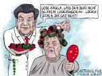 Karikatur, Cartoon: Corona-Lockerungen auf Chinesisch © Roger Schmidt
