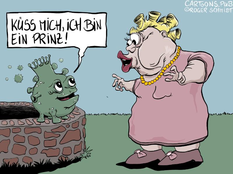Karikatur, Cartoon: Die Corona-Lüge © Roger Schmidt
