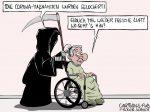 Karikatur, Cartoon: Corona-Massnahmen werden gelockert © Roger Schmidt