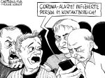 Karikatur, Cartoon: Corona Tracking App © Roger Schmidt