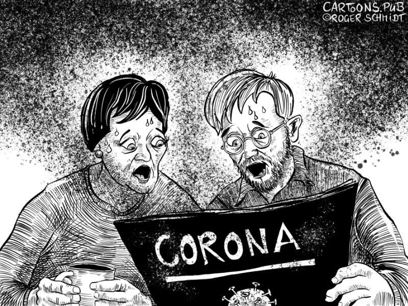 Karikatur, Cartoon: Corona-Virus in Deutschland © Roger Schmidt