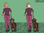Karikatur, Cartoon: Maulkorb versus Mundschutz © Roger Schmidt