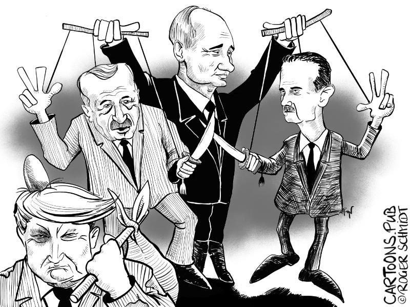 Karikatur, Cartoon: Das Ende der Grossmacht USA? © Roger Schmidt