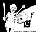 Karikatur, Cartoon: Demokratie und Islam, © Roger Schmidt