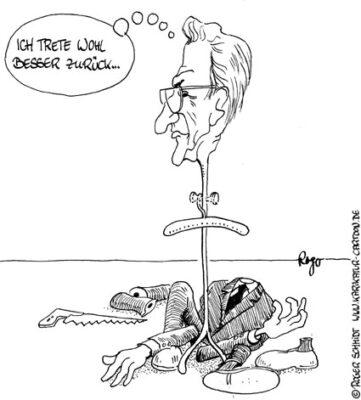 Karikatur, Cartoon: Demontage, © Roger Schmidt