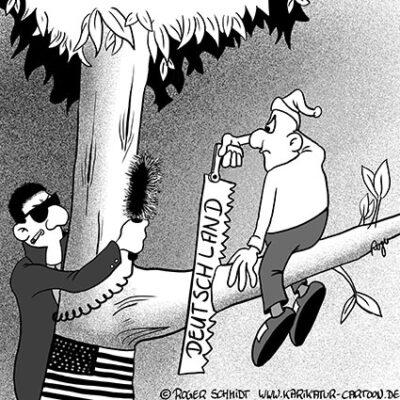 Karikatur, Cartoon: Deutschland und Amerika züchten Zitronen, © Roger Schmidt