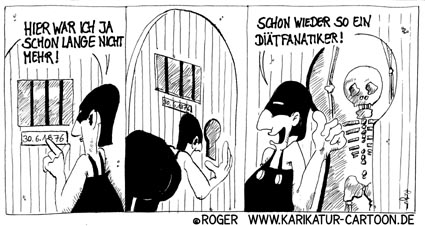 Karikatur, Cartoon: Diät, © Roger Schmidt