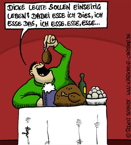Karikatur, Cartoon: Gnadenlose Dickmacher, © Roger Schmidt