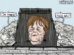 Karikatur, Cartoon: Die Mauer muss weg - Mauerfall © Roger Schmidt
