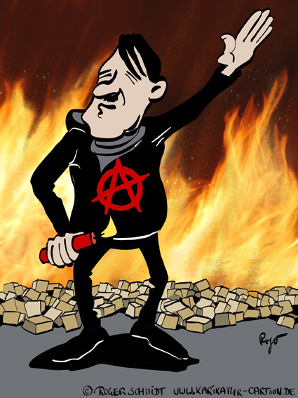 Karikatur, Cartoon: Die Neuen Faschisten!, © Roger Schmidt