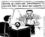 Karikatur, Cartoon: Drogendealer im Görlitzer Park, © Roger Schmidt
