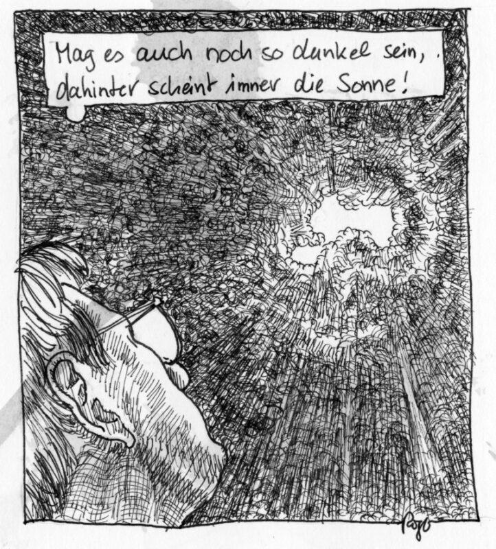 Karikatur, Cartoon: Dunkle Zeit © Roger Schmidt