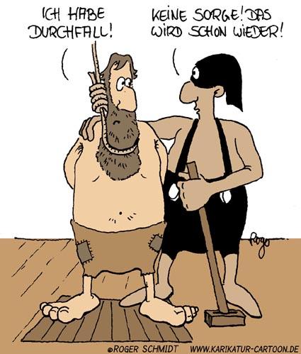 Karikatur, Cartoon: Durchfall, © Roger Schmidt