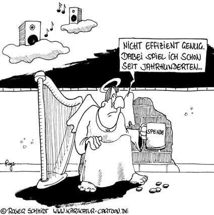 Karikatur, Cartoon: Was ist Effizienz?, © Roger Schmidt