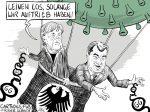 Karikatur, Cartoon: Einschränken der Grundrechte © Roger Schmidt