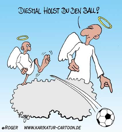 Karikatur, Cartoon: Engel, © Roger Schmidt