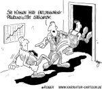 Karikatur, Cartoon: Entlassungsproduktivität, © Roger Schmidt