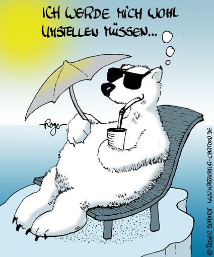 Karikatur, Cartoon: Die Vorteile der Erderwärmung, © Roger Schmidt