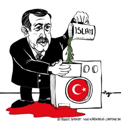 Karikatur, Cartoon: Erdogan's Säuberungen, © Roger Schmidt