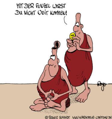 Karikatur, Cartoon: Erleuchtung, © Roger Schmidt