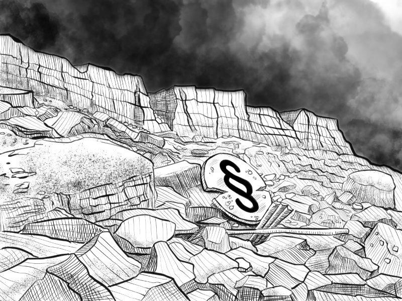Karikatur, Cartoon: Erosion des Rechtsstaates © Roger Schmidt
