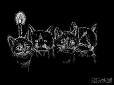 Karikatur, Cartoon: Erster Katzen-Advent © Roger Schmidt