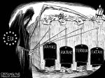 Karikatur, Cartoon: EU-Finanzhilfen für Terror-Organisationen © Roger Schmidt