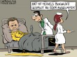 Karikatur, Cartoon: FDP-Abgesang in Hamburg © Roger Schmidt
