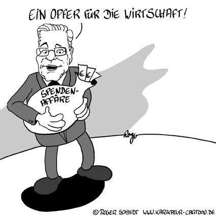 Karikatur, Cartoon: FDP-Spendenaffäre, © Roger Schmidt